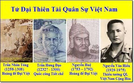 quân sử việt nam, quân sự việt nam, tứ đại thiên tài