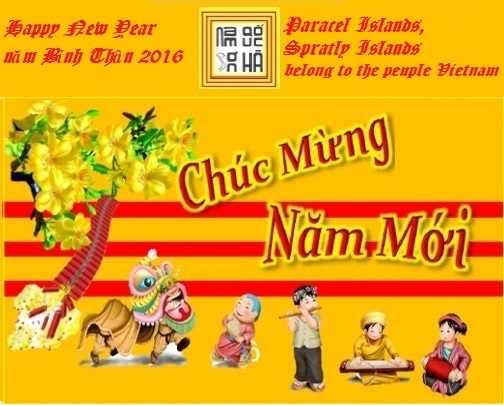 Vietnamese Lunar New Year of the yellow monkeys,Tết nguyên đán bính thân 2016