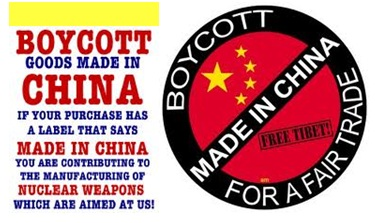 boycott made in china for a fair trade